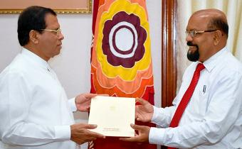 President donates Rs. 45 million to gold plate canopy of Temple of the Sacred Tooth Relic
